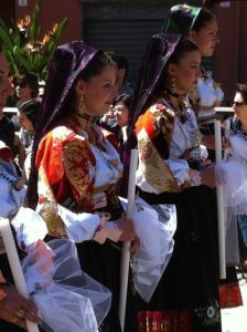 Feast of Sant Efisio - old sardinia Women costume